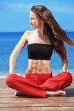 Fitness on the beach Royalty Free Stock Images