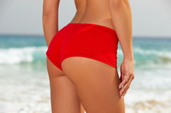 Fitness on beach Royalty Free Stock Photo