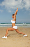 Fitness on beach Stock Photo