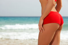 Fitness on beach Royalty Free Stock Images
