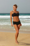 Fitness on beach Royalty Free Stock Photography