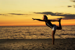 Fitness on the beach. Royalty Free Stock Photo