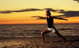 Fitness on the beach. Stock Photo