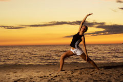 Fitness on the beach. Royalty Free Stock Image