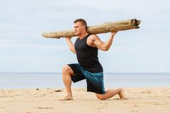Fitness on the beach Royalty Free Stock Photo