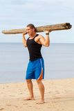 Fitness on the beach Royalty Free Stock Photography