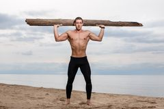 Fitness on the beach Stock Images