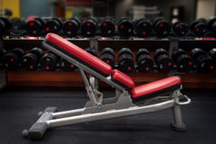 Fitness bench Royalty Free Stock Photo