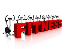 Fitness and bikes stock photography