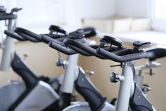 Fitness bikes Royalty Free Stock Images