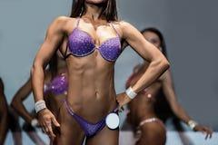 Fitness bikini athlete's lean torso. Stock Image