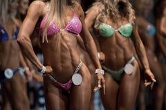 Fitness bikini contest. Royalty Free Stock Photo