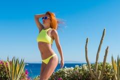 Fitness bikini practice Royalty Free Stock Photography