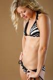 Fitness bikini profile Stock Photo