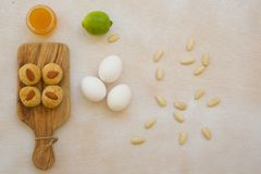 Fitness biscuits and its ingredients Stock Images