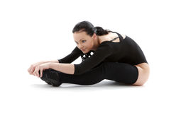 Fitness in black leotard #2 Stock Photos