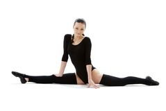 Fitness in black leotard #6 Royalty Free Stock Images