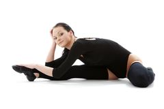 Fitness in black leotard #5 Stock Photo