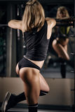 Fitness blond in gym Stock Photos