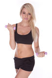 Fitness blonde woman Stock Images