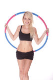 Fitness blonde woman Royalty Free Stock Photography