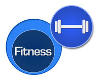 Fitness Blue Circles Royalty Free Stock Image
