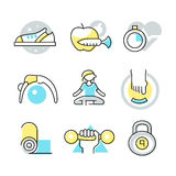 Fitness and Body Care Icons Royalty Free Stock Image