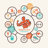 Fitness and body care infographics Royalty Free Stock Images