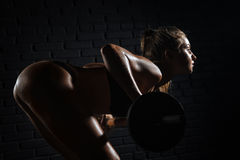 Fitness, bodybuilding. Health care. Royalty Free Stock Photo