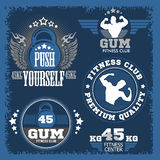 Fitness bodybuilding vintage label for flayer Stock Photo