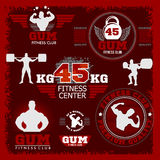 Fitness bodybuilding vintage label for flayer Royalty Free Stock Images