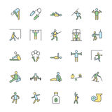 Fitness Bold Vector Icons 4 Royalty Free Stock Image