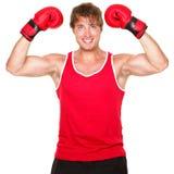 Fitness boxing man Stock Photos