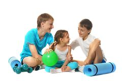 Fitness boys and girl Stock Photography