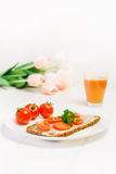 Fitness breakfast Royalty Free Stock Images