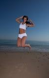 Fitness brunette Stock Photography