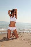 Fitness brunette Royalty Free Stock Photography