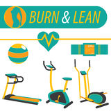 Fitness Burn and Lean Workout. Vector Stock Photography