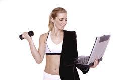 Fitness for businesswoman. Stock Images