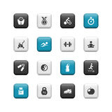 Fitness buttons