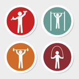 Fitness buttons Stock Image