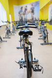 Fitness bycicles Royalty Free Stock Image
