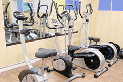 Fitness bycicles Stock Image