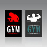 Fitness a card. Business a fitness card. A vector illustration Royalty Free Stock Images