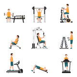 Fitness cardio exercise and equipment. Stock Images