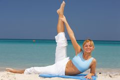 Fitness at Caribbean Royalty Free Stock Image