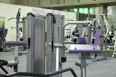 Fitness center stock image