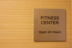Fitness center. Sign on a wall Royalty Free Stock Images