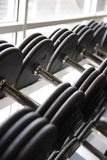 Fitness center equipment Stock Photography