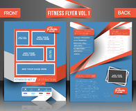 Fitness Center Flyer. Fitness Center Front & Back Flyer & Poster Template Stock Images